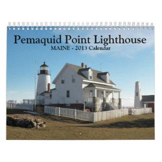 Calendrier de phare de point de Pemaquid