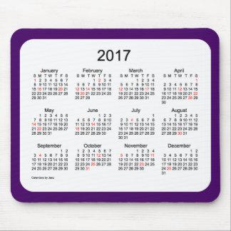 Calendrier de vacances de 2017 pourpres par Janz Tapis De Souris