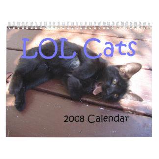 Calendrier des chats 2008 de LOL