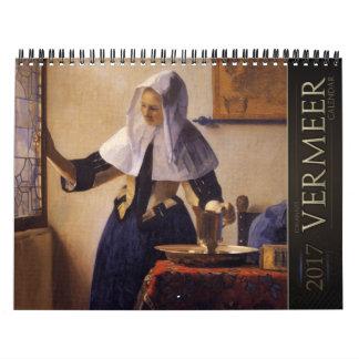 Calendrier des peintures 2017 de janv. Vermeer