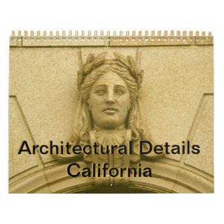 Calendriers Calendrier - détails architecturaux la Californie
