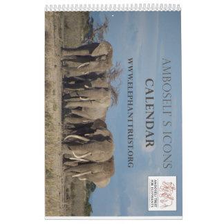 Calendrier d'icônes d'Amboseli