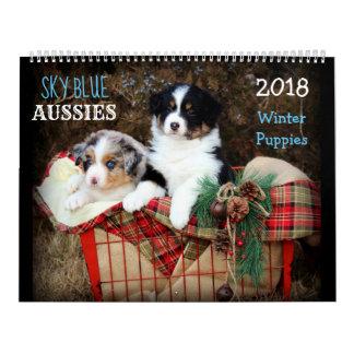 Calendrier du chiot 2018 d'HIVER d'Australiens de