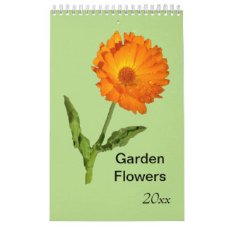 Calendriers Muraux Calendrier - d'une seule page - fleurs de jardin