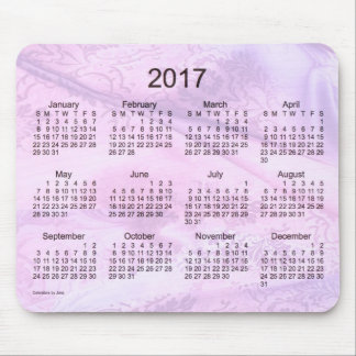 Calendrier en soie de 2017 pourpres par le tapis tapis de souris