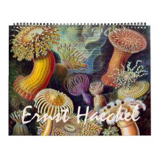Calendrier Ernest vintage Haeckel, biologie, botanique, la