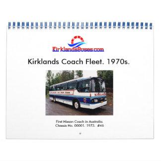 Calendrier Flotte d'autobus et d'entraîneur de Kirklands