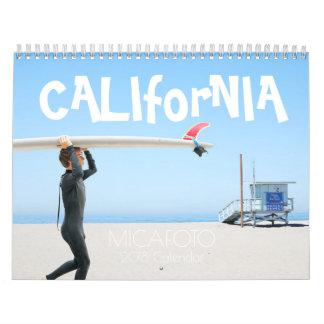 "Calendrier la ""Californie"" USA ver. de 2018"