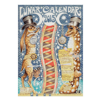Calendrier lunaire 2015 poster