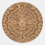 Calendrier maya autocollants ronds