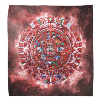 Calendrier maya lumineux bandana