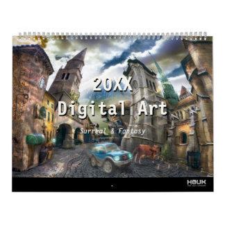 Calendrier Mural 2018 Digitals surréalistes et art d'imaginaire