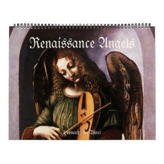 Calendrier Mural Anges vintages de la Renaissance, beaux-arts