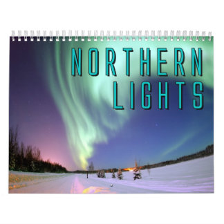 Calendrier mural de lumières du nord