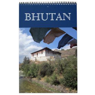 Calendrier Mural photographie du Bhutan