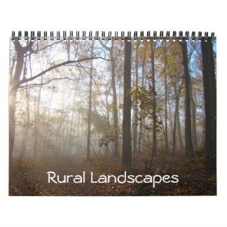 Calendrier - paysages ruraux
