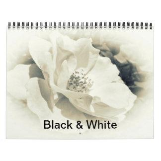 Calendrier - photographie noire et blanche