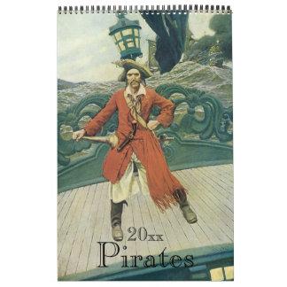 Calendrier Pirates vintages et Buccaneers d'illustration