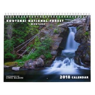 Calendrier Réserve forestière de Kootenai du Montana -