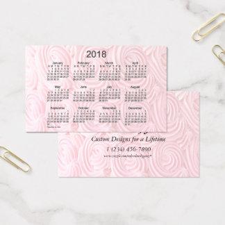 Calendrier rose du givrage 2018 par la carte de