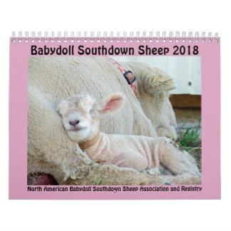 Calendrier Southdown de 2018 de NABSSAR moutons de