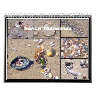 Calendrier - trésors de plage