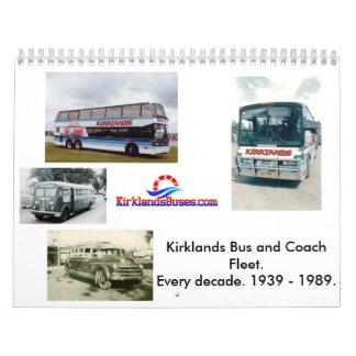 Calendriers Flotte d'autobus et d'entraîneur de Kirklands