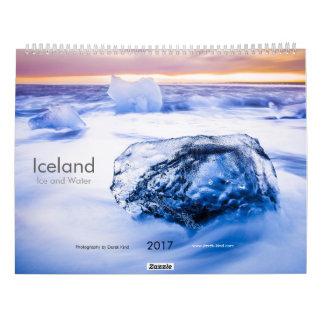 Calendriers L'Islande : Og Vatn de Ís (glace et l'eau)