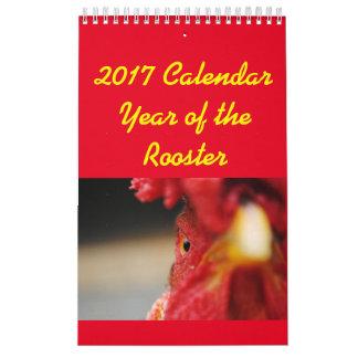 Calendriers Muraux 2017 années civiles du coq