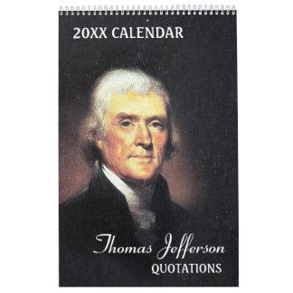 Calendriers Muraux Citations de Thomas Jefferson
