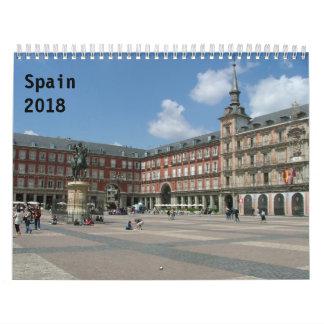 Calendriers Muraux L'Espagne 2018