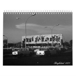 Calendriers Muraux L'Irak vintage Bagdad 1970