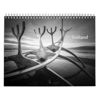 Calendriers Muraux L'Islande B&W