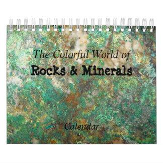 Calendriers Muraux Roches et photo de minerais