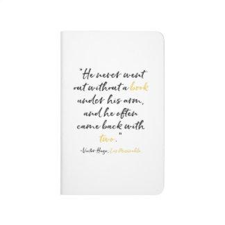 Calepin de citation de livre de Les Miserables