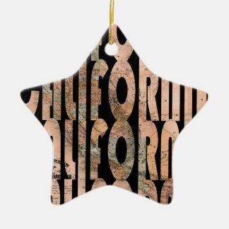 california1861 ornement étoile en céramique