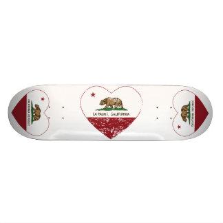 california flag la palma heart distressed skate board deck
