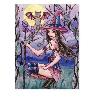 Calista - carte postale de sorcière de Halloween