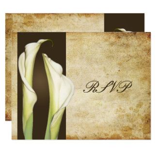 Calla Lillies GRAND RSVP pour les invitations 5x7
