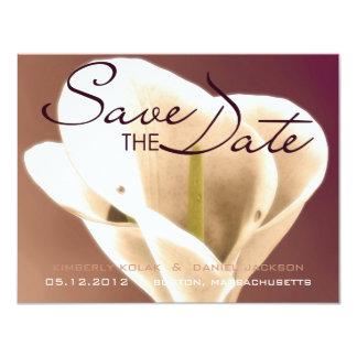 Calla Lillies • Réservez la date Carton D'invitation 10,79 Cm X 13,97 Cm