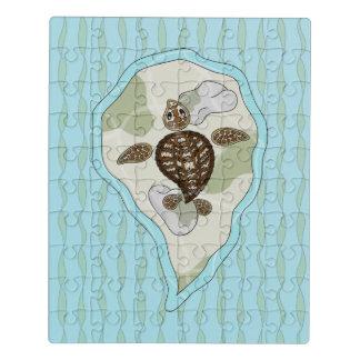 Callie le puzzle d'acrylique de tortue de mer