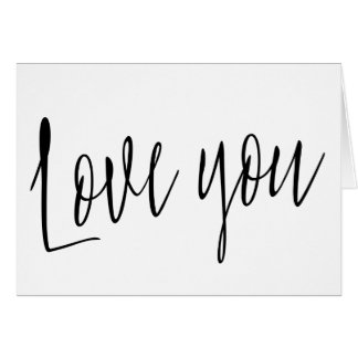 "Calligraphie chic moderne ""amour vous "" cartes"