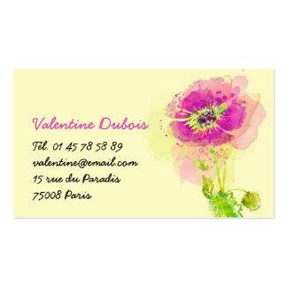 Cartes de visites pour les fleuristes à personnaliser.