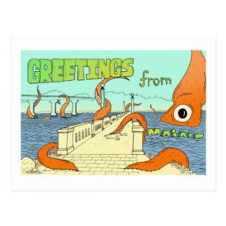 Calmar contre Belfast, JE carte postale