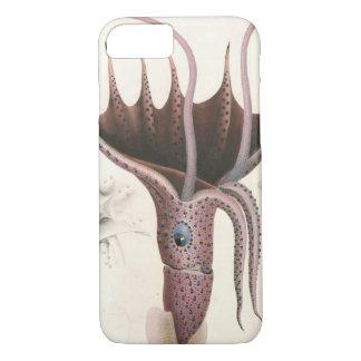 Calmar vintage de parapluie, animaux d'espèce coque iPhone 7