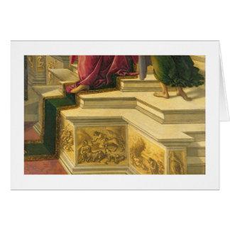 Calomnie d'Apelles : détail montrant une partie de Cartes