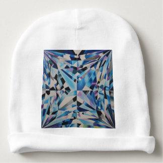 Calotte en verre de coton de bébé de diamant bonnet de bébé