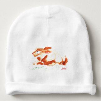 Calotte faite sur commande de lapin de coton de bonnet de bébé