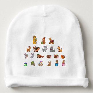 Calotte mignonne de coton de bébé d'animaux bonnet de bébé