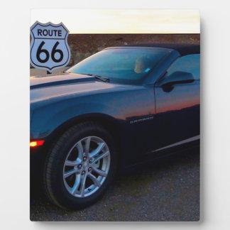 Camaro sur l'itinéraire 66 plaque photo